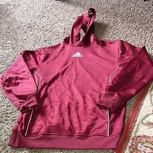 Adidas burgundy Climawarm Hoodie